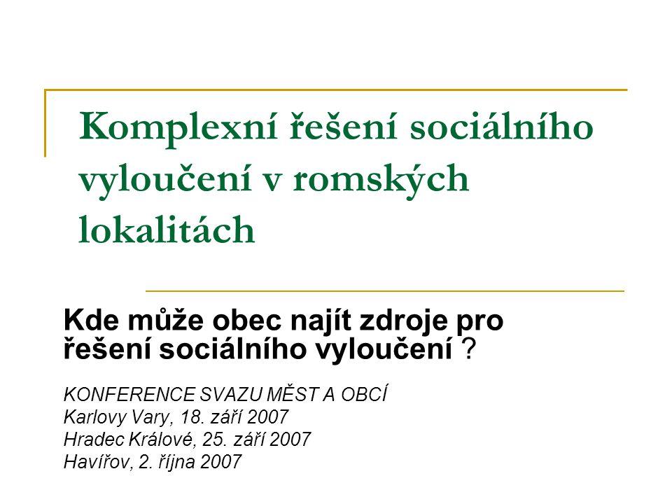 Komplexní řešení sociálního vyloučení v romských lokalitách