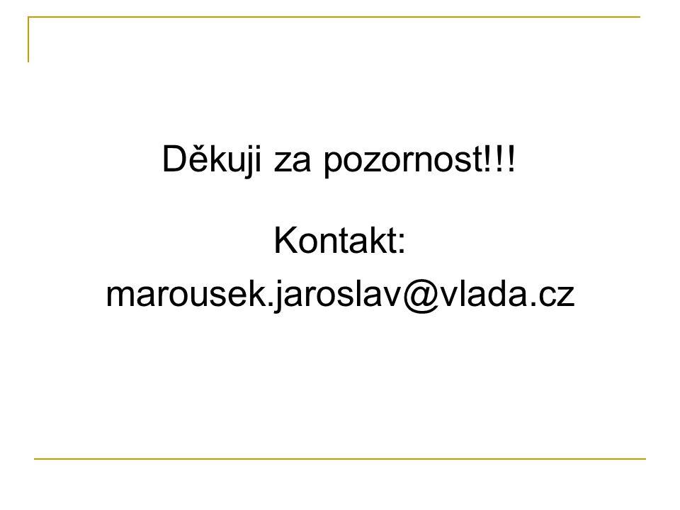Děkuji za pozornost!!! Kontakt: marousek.jaroslav@vlada.cz