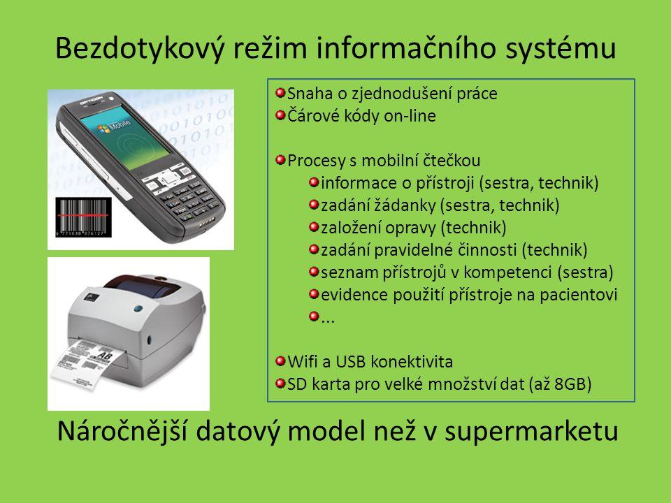 Bezdotykový režim informačního systému