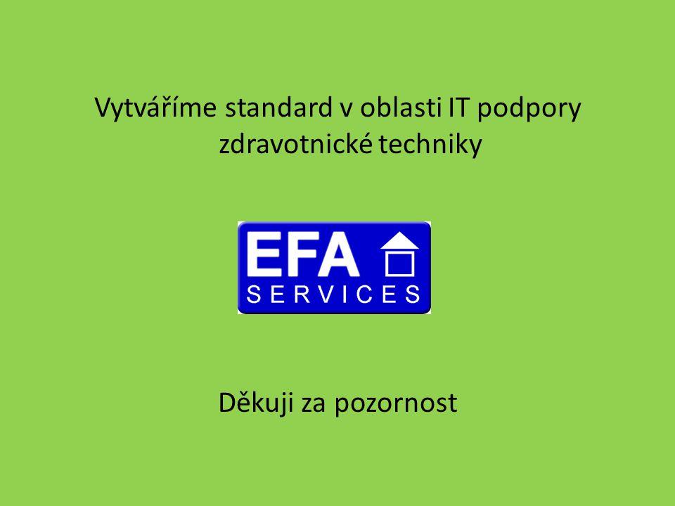 Vytváříme standard v oblasti IT podpory zdravotnické techniky Děkuji za pozornost