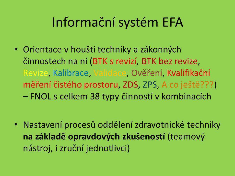 Informační systém EFA