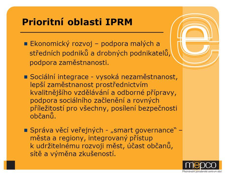 Prioritní oblasti IPRM