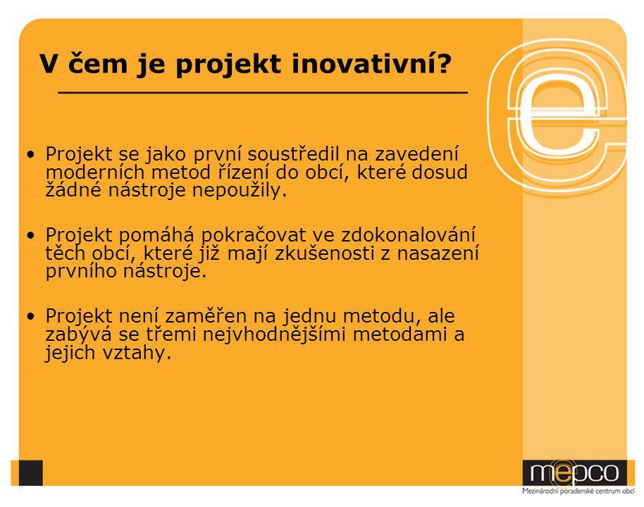 V čem je projekt inovativní