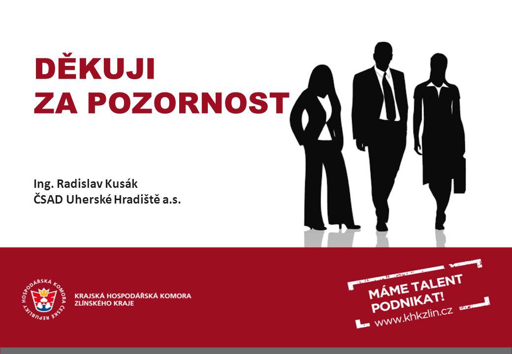 DĚKUJI ZA POZORNOST Ing. Radislav Kusák ČSAD Uherské Hradiště a.s.