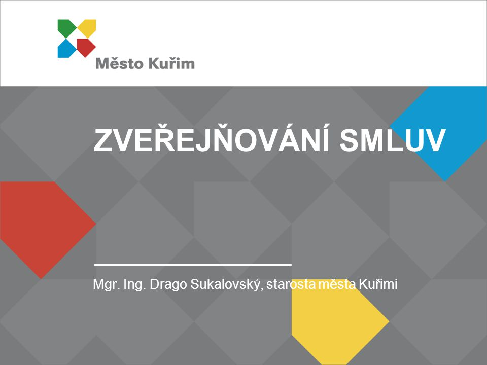 Mgr. Ing. Drago Sukalovský, starosta města Kuřimi