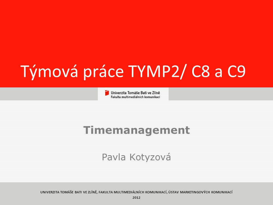 Timemanagement Pavla Kotyzová