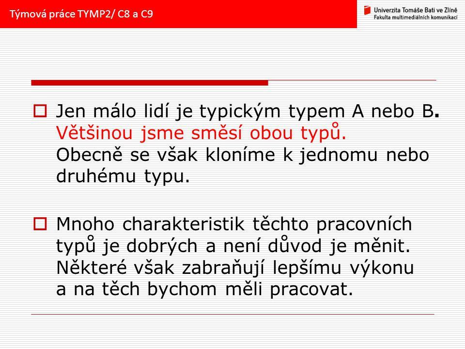 Týmová práce TYMP2/ C8 a C9