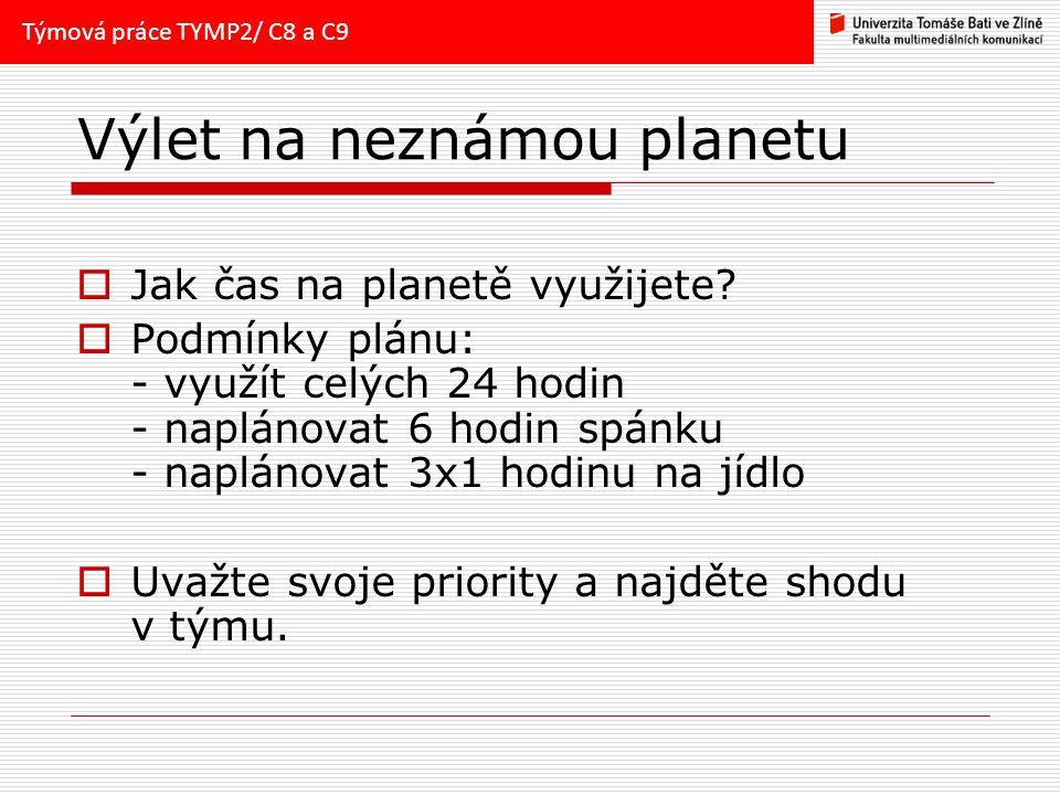 Výlet na neznámou planetu