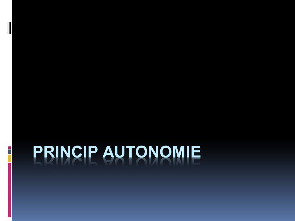 princip autonomie