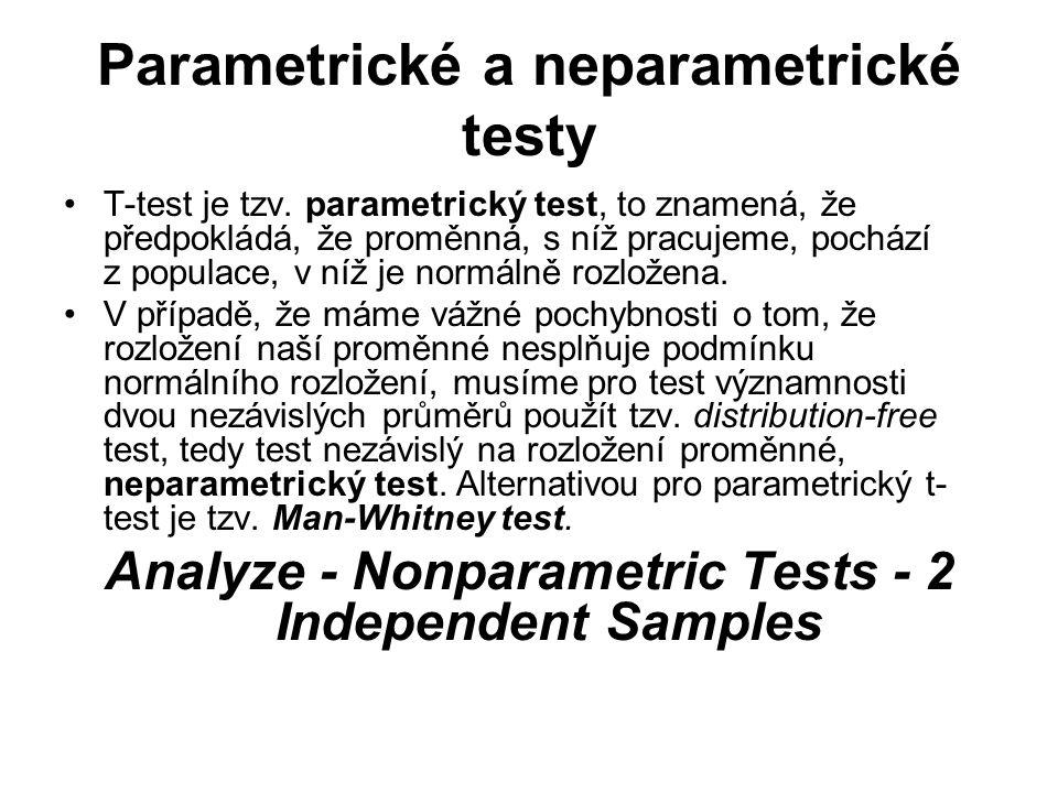 Parametrické a neparametrické testy