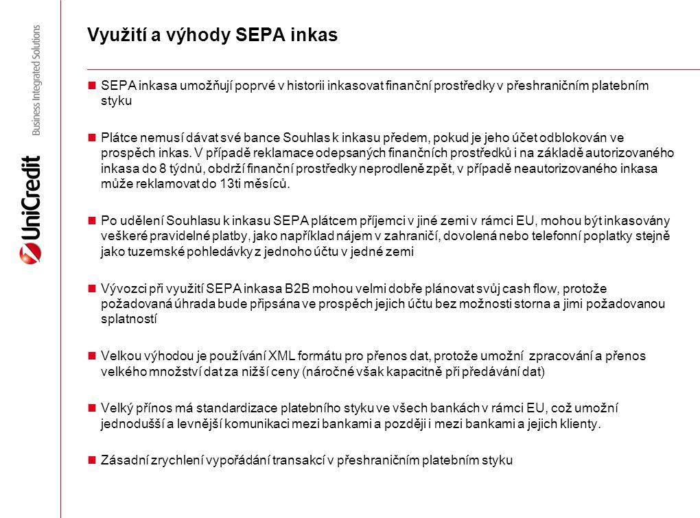 Využití a výhody SEPA inkas