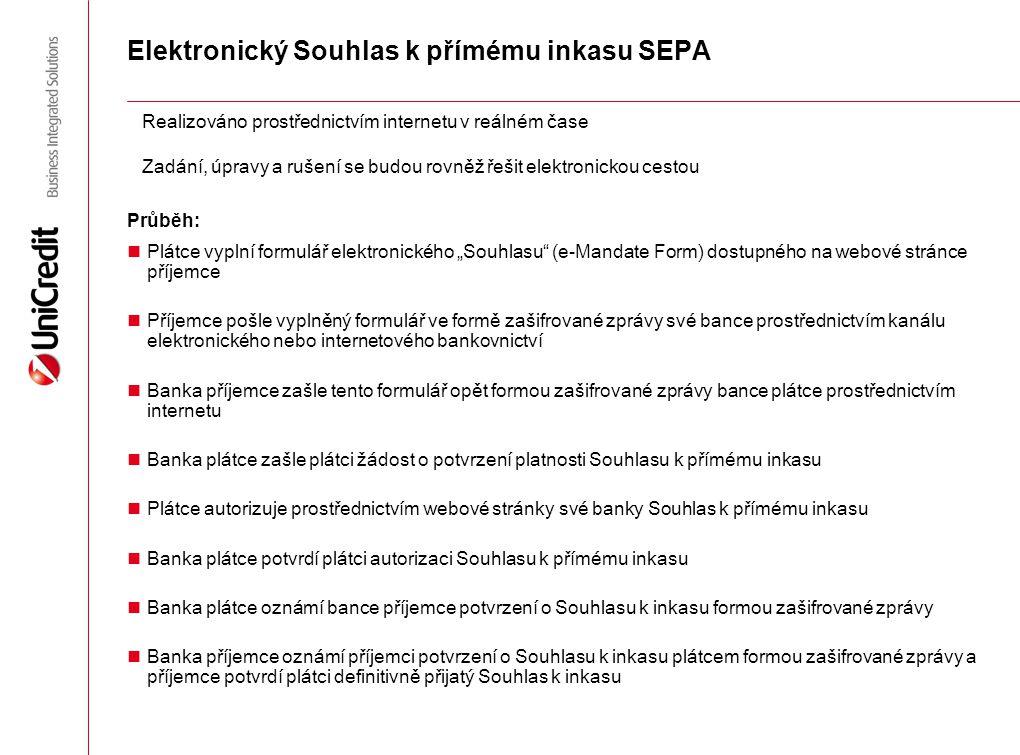 Elektronický Souhlas k přímému inkasu SEPA