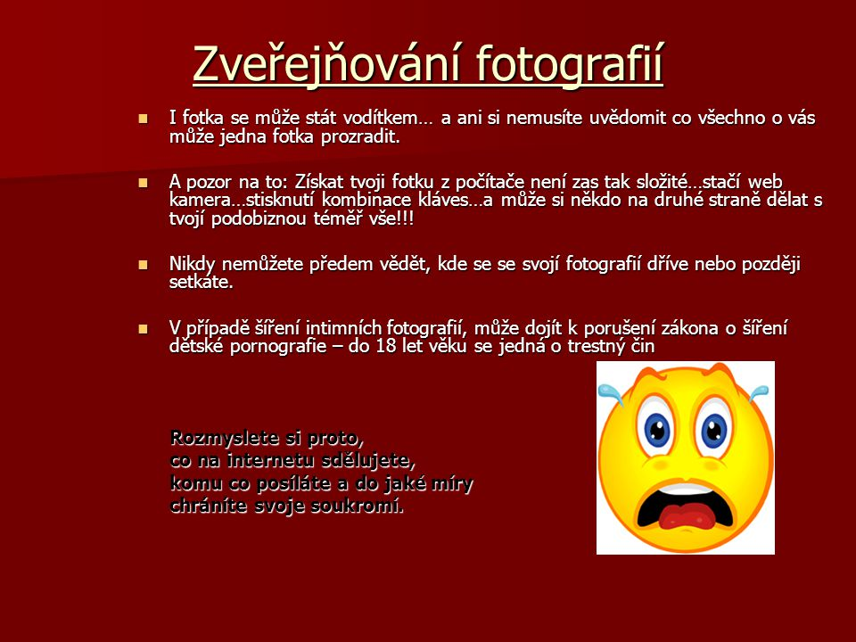 Zveřejňování fotografií