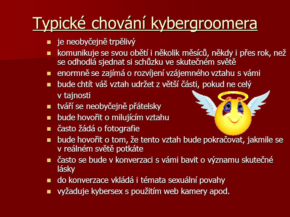 Typické chování kybergroomera