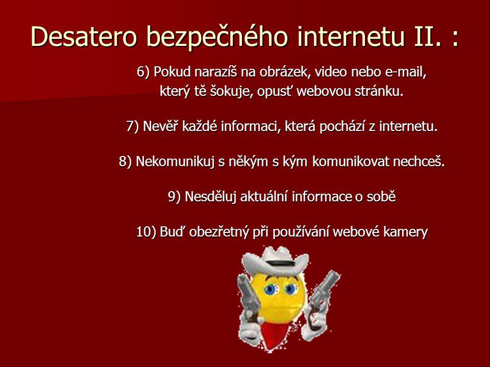 Desatero bezpečného internetu II. :