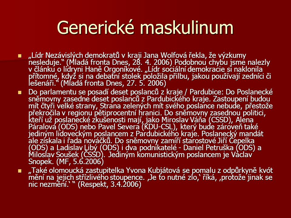 Generické maskulinum
