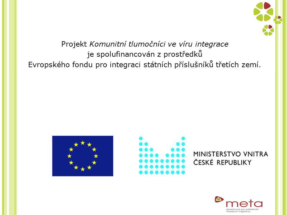 Projekt Komunitní tlumočníci ve víru integrace