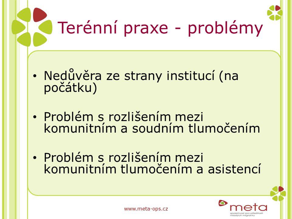 Terénní praxe - problémy