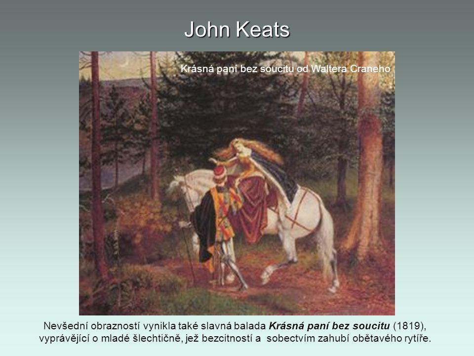 John Keats Krásná paní bez soucitu od Waltera Craneho