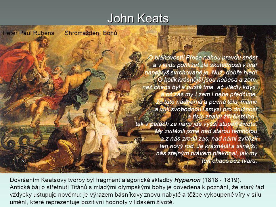 John Keats Peter Paul Rubens Shromáždění Bohů