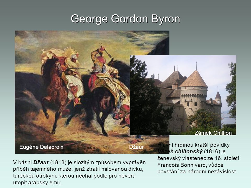 George Gordon Byron Zámek Chillion