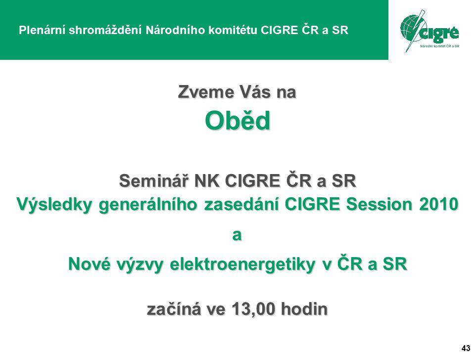 Plenární shromáždění Národního komitétu CIGRE ČR a SR