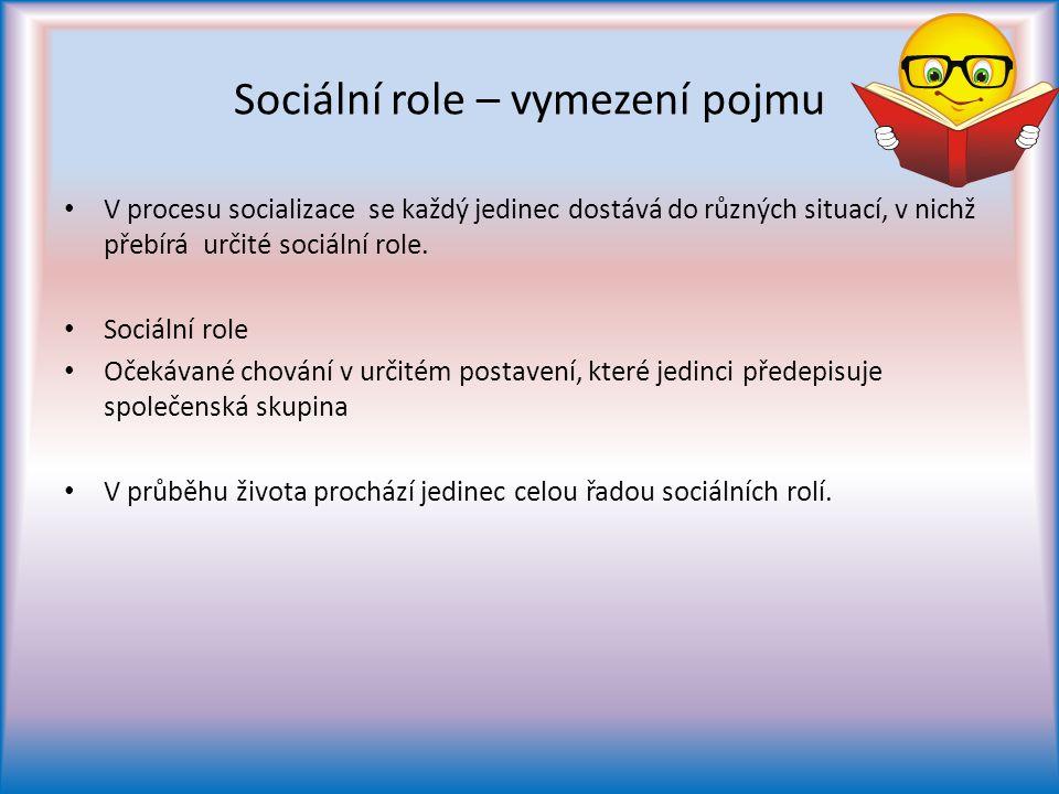 Sociální role – vymezení pojmu