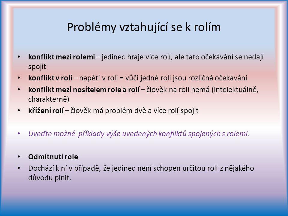 Problémy vztahující se k rolím