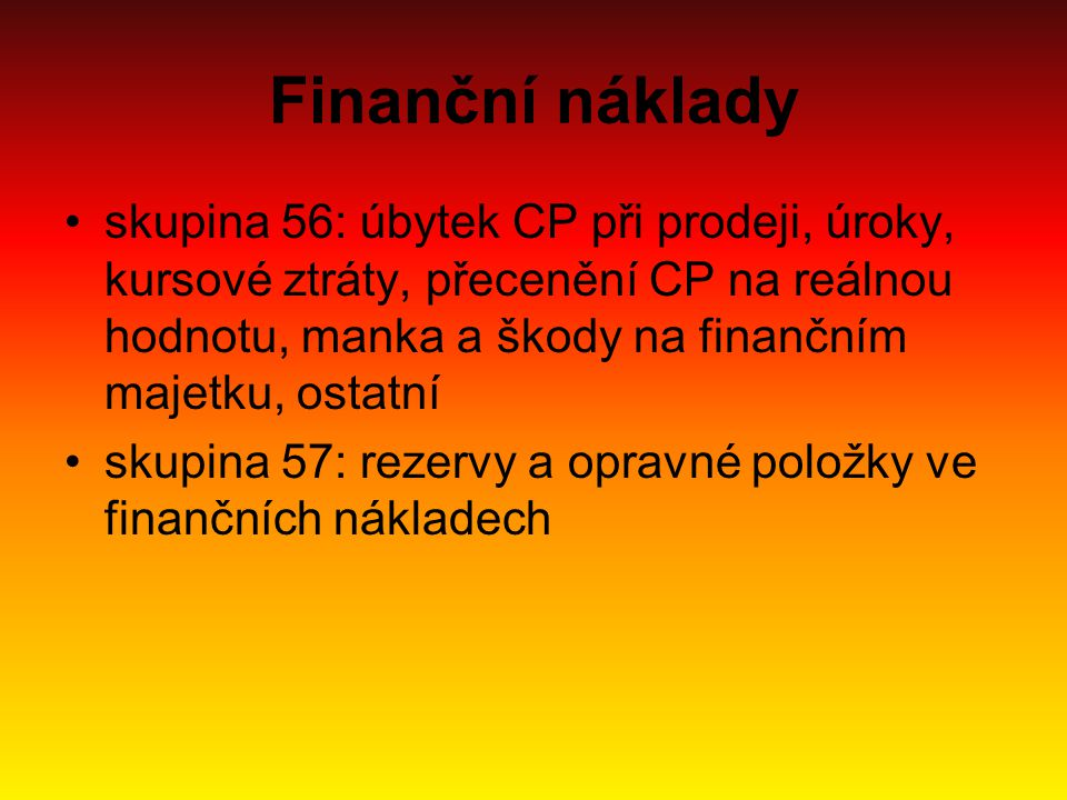 Finanční náklady