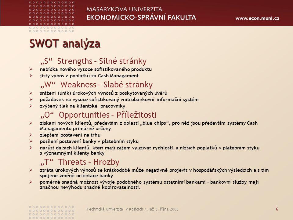 """SWOT analýza """"S Strengths – Silné stránky"""