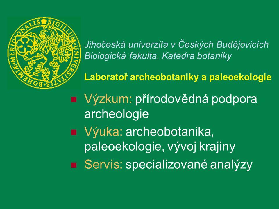 Výzkum: přírodovědná podpora archeologie