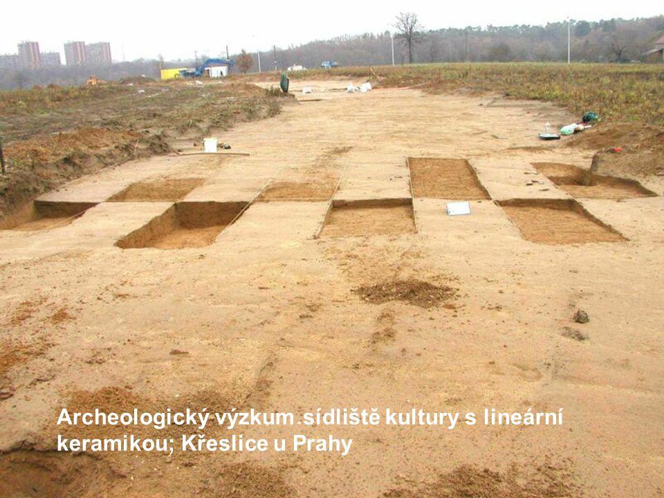 Archeologický výzkum sídliště kultury s lineární keramikou; Křeslice u Prahy