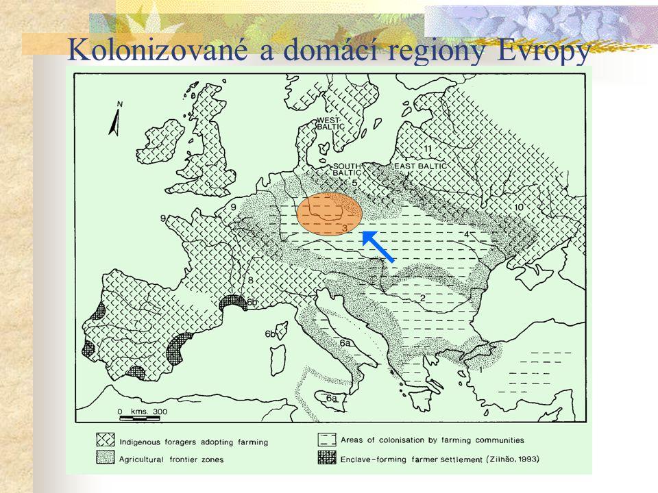 Kolonizované a domácí regiony Evropy