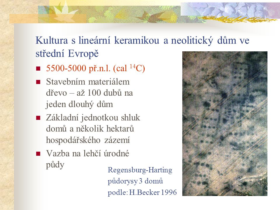 Kultura s lineární keramikou a neolitický dům ve střední Evropě