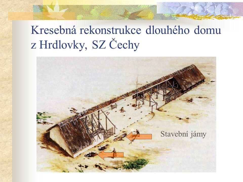Kresebná rekonstrukce dlouhého domu z Hrdlovky, SZ Čechy