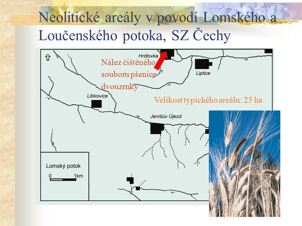 Neolitické areály v povodí Lomského a Loučenského potoka, SZ Čechy