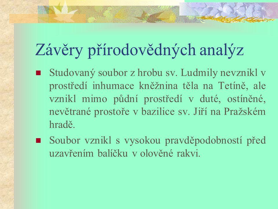 Závěry přírodovědných analýz