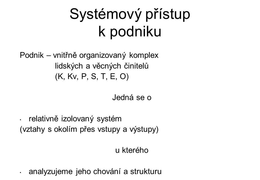Systémový přístup k podniku