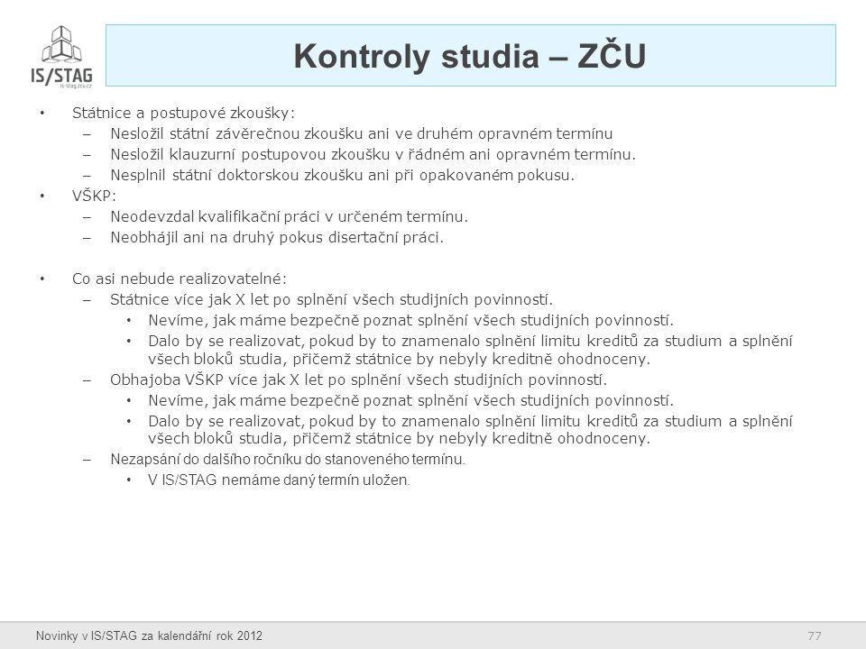 Kontroly studia – ZČU Státnice a postupové zkoušky: