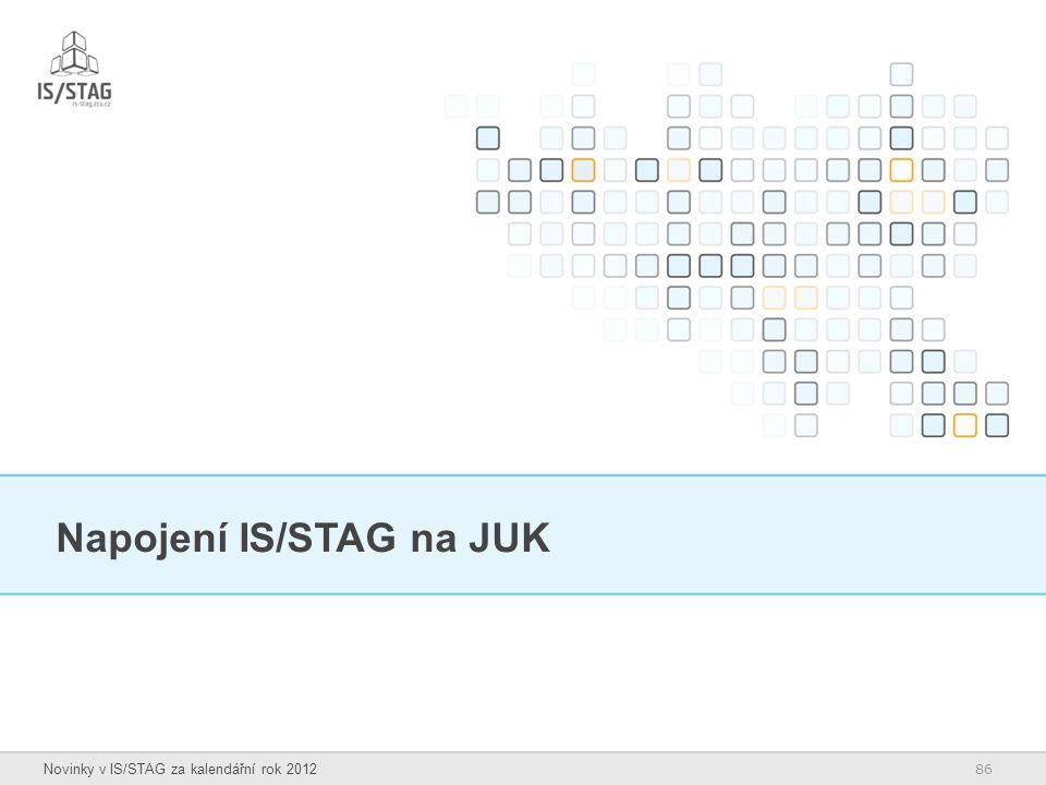Napojení IS/STAG na JUK