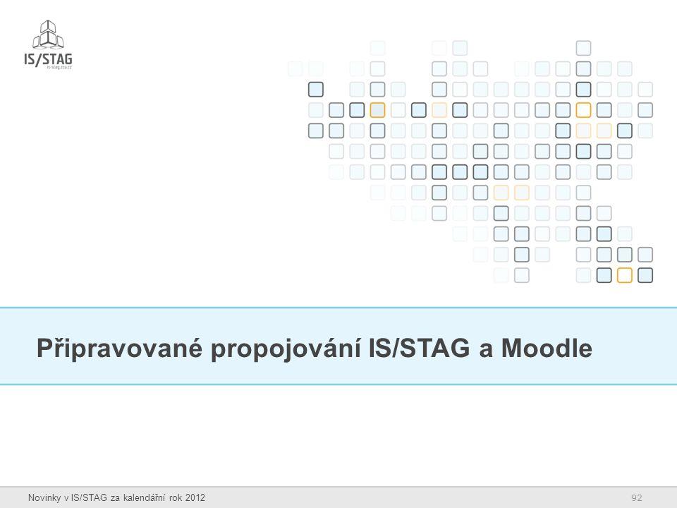 Připravované propojování IS/STAG a Moodle