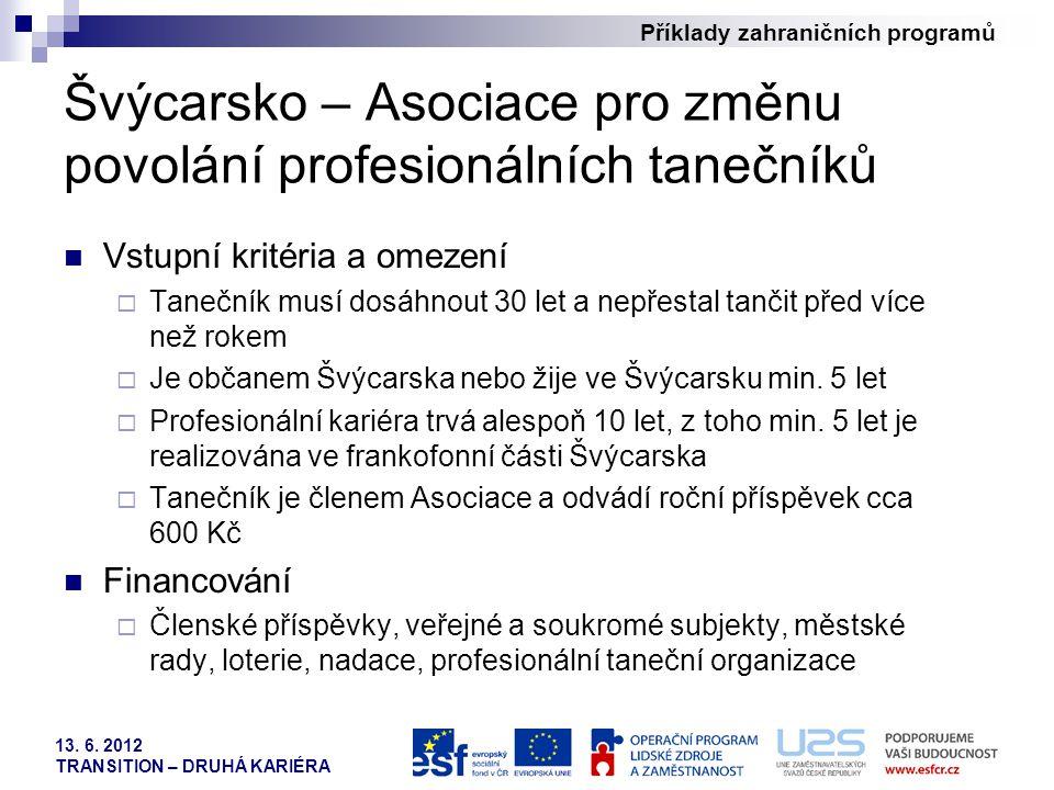 Švýcarsko – Asociace pro změnu povolání profesionálních tanečníků