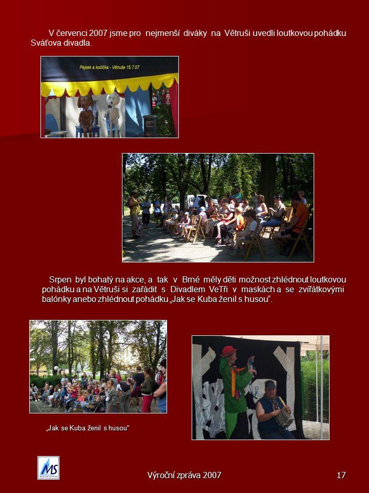 V červenci 2007 jsme pro nejmenší diváky na Větruši uvedli loutkovou pohádku Sváťova divadla.