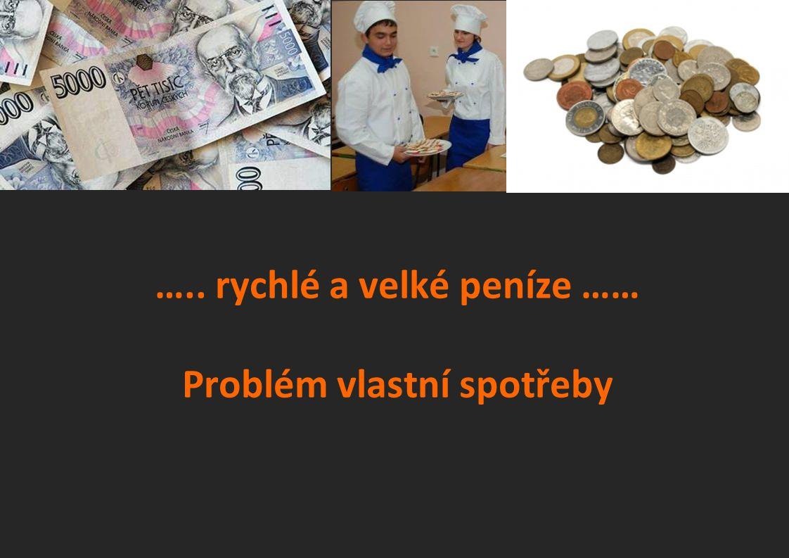 ….. rychlé a velké peníze …… Problém vlastní spotřeby