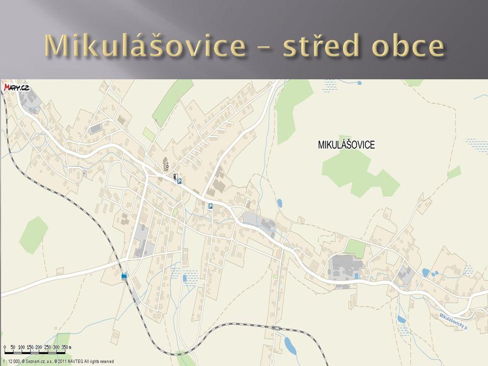 Mikulášovice – střed obce