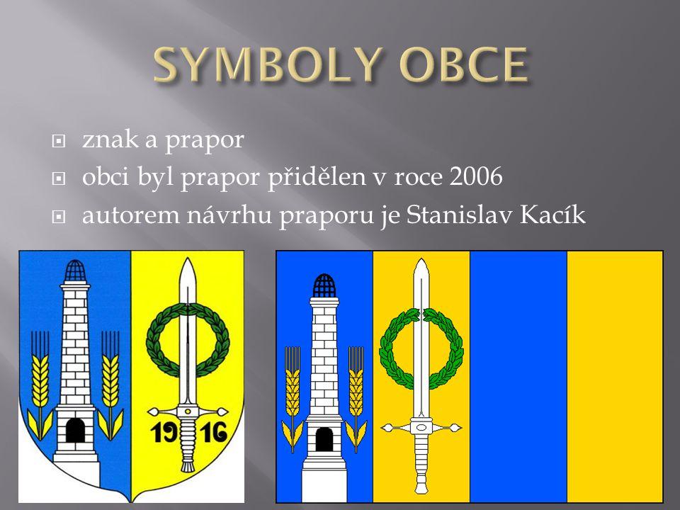 SYMBOLY OBCE znak a prapor obci byl prapor přidělen v roce 2006