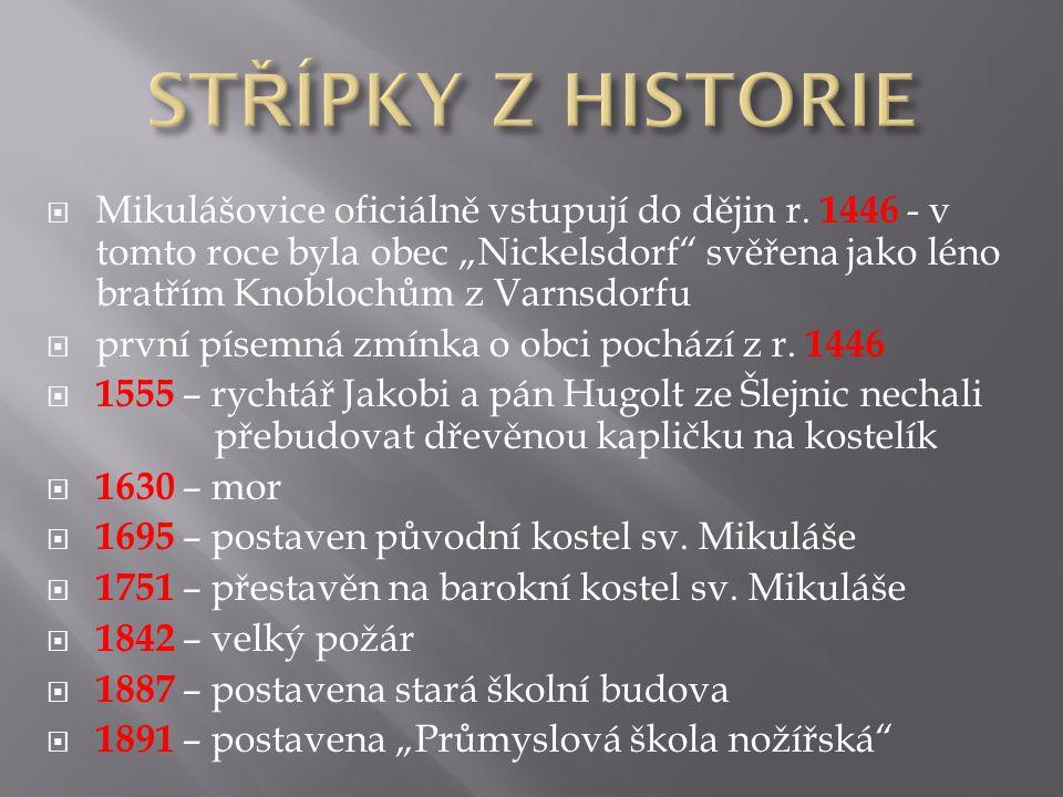 STŘÍPKY Z HISTORIE