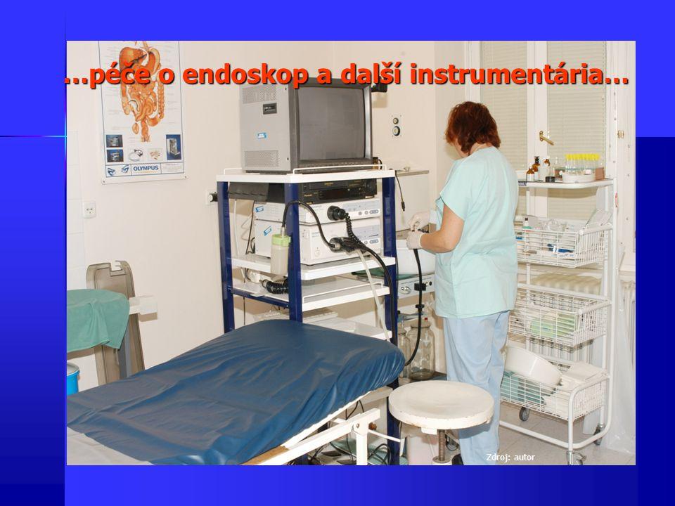 …péče o endoskop a další instrumentária…