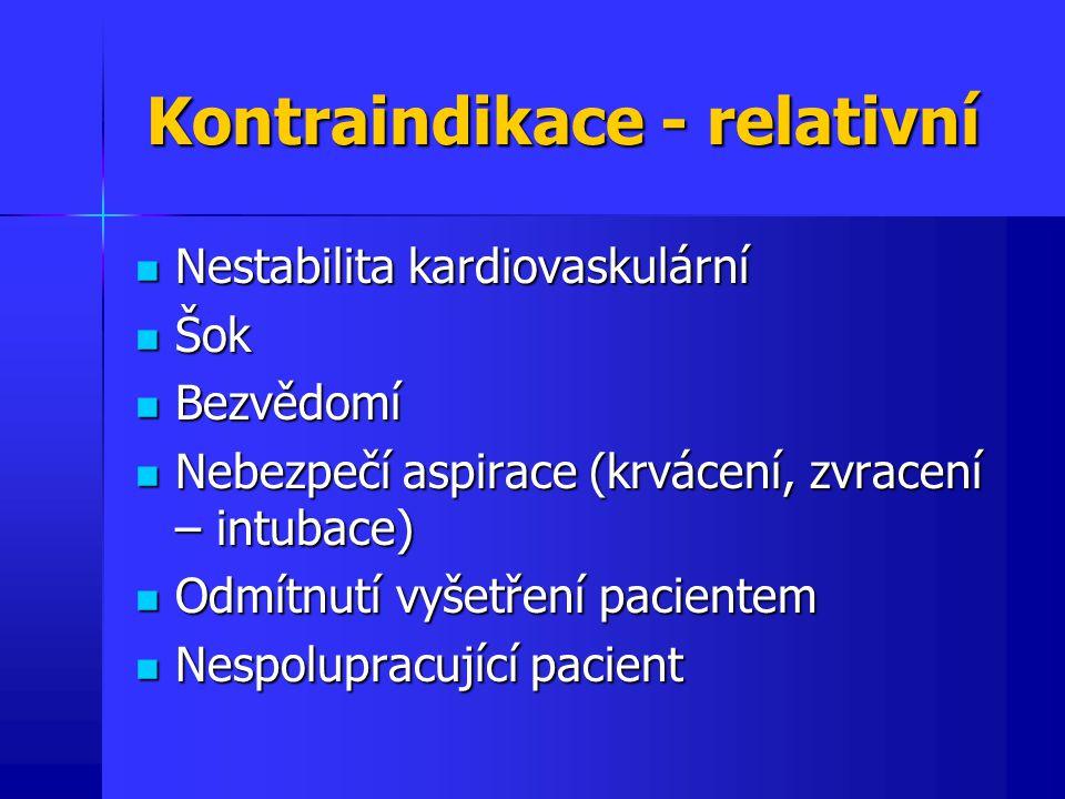 Kontraindikace - relativní