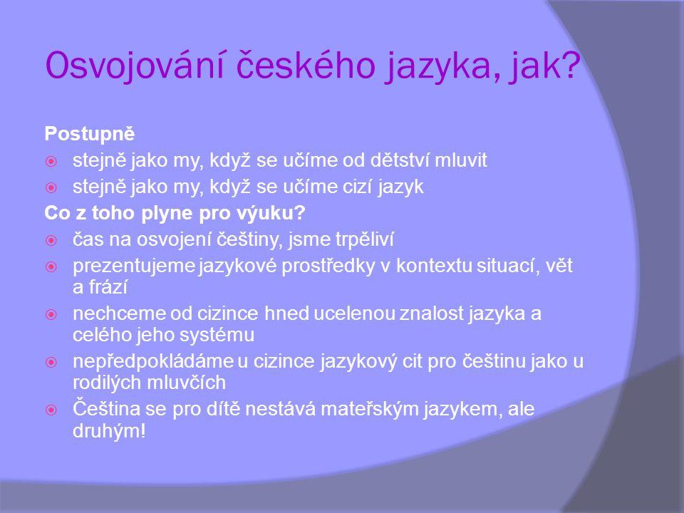 Osvojování českého jazyka, jak
